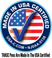 THASC Pens Are Made In The USA Certified