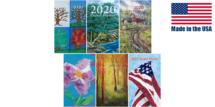 THASC - 2020 Monthly Pocket Planners (Waving Proud, Birch Water Hole